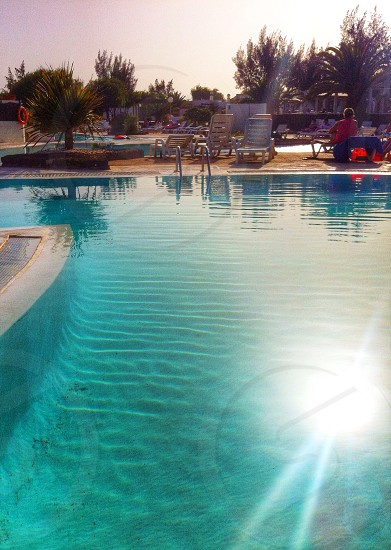 Poolside Sunset photo