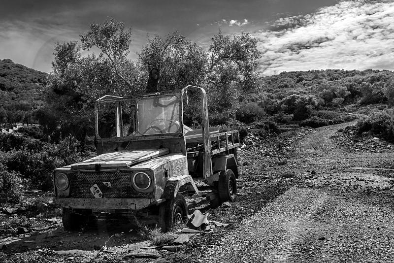 Abandoned Vehicle in Alonissos. photo