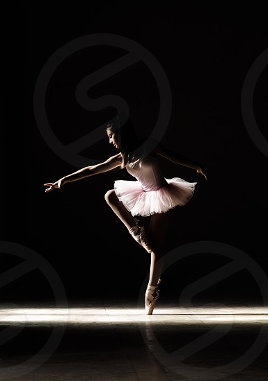 low lightshaddowgirlyoungyouthballetdancedancergracejoynatural light photo