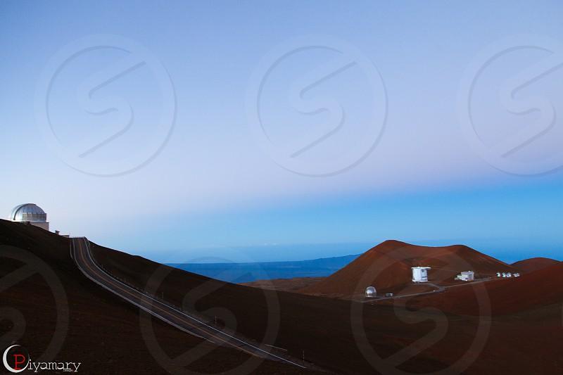 observatories Manua Kea Hawaii lanscape photo