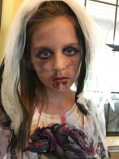 Zombie bride halloween spooky photo