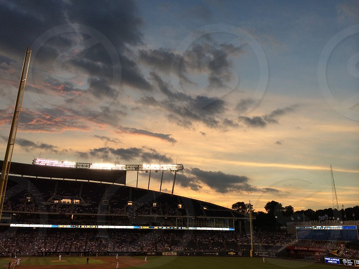 view of baseball stadium photo