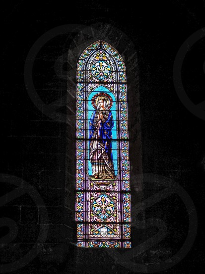 Stained Glass Windows in the Church of St Martial in Bordeaux photo