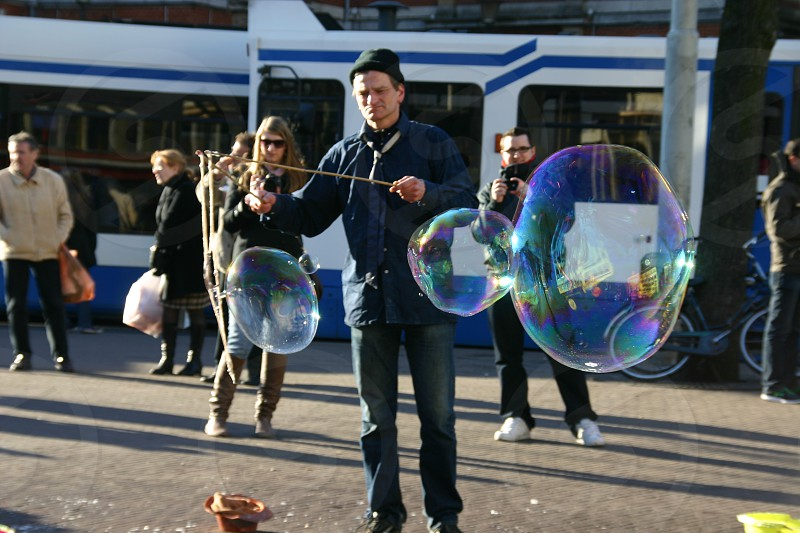Street performers in Amsterdam  photo