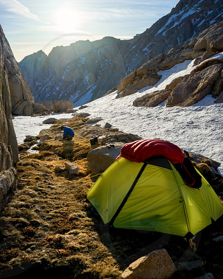 Rising with the sunshine to prepare breakfast and hit the last leg of the trail to the highest point in the contiguous United States Mt. Whitney. photo