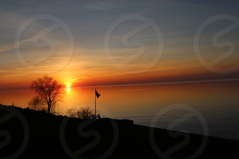 Lake Ontario Sunset Lake Ontario Lake Ontario Canada Sunset photo