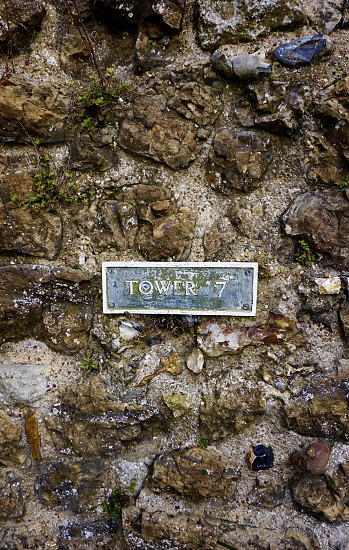 Tower 7 Sign Close-Up                             photo