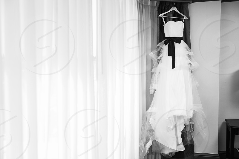 Black & White Wedding Dress photo