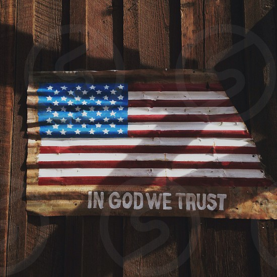 in god we trust sign photo