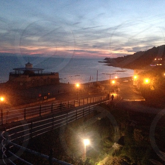 Ventnor seafront Isle of Wight at sunset  photo
