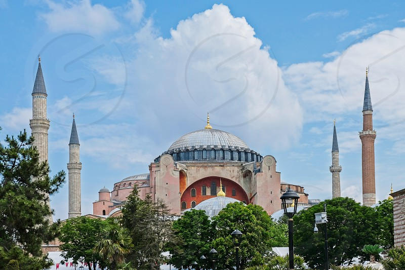 ISTANBUL TURKEY - MAY 26 : Exterior view of the Hagia Sophia Museum in Istanbul Turkey on May 26 2018 photo