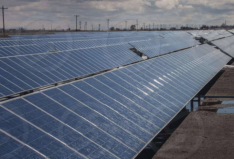 Solar panels in San Luis Valley of Colorado photo
