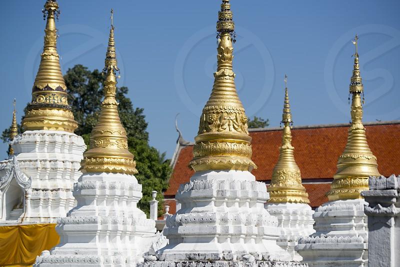 the wat chedi sao lang near of the city of Lampang in North Thailand. photo