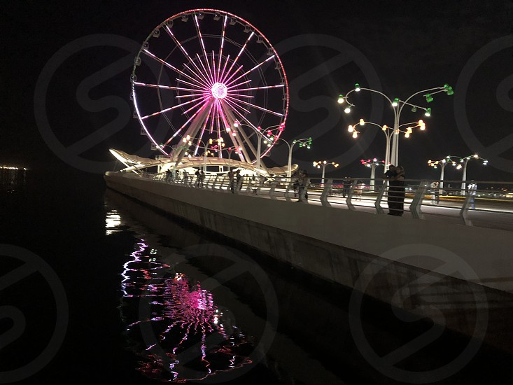 Ferris wheel in the evening. From a series of panorama Baku photo