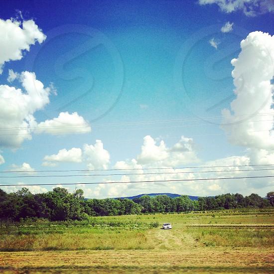 Tennessee landscape skyscape cloud clouds sky field photo
