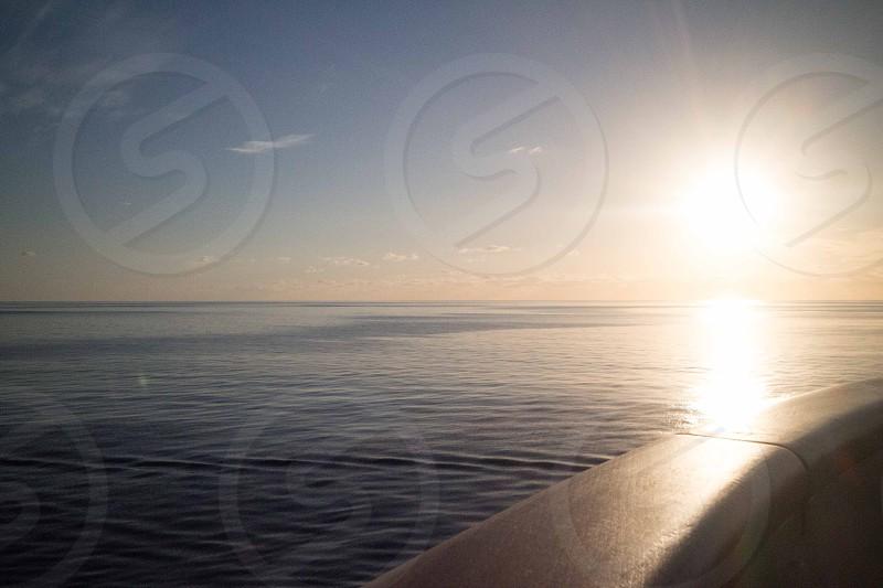 Sunset over the Caribbean Sea photo