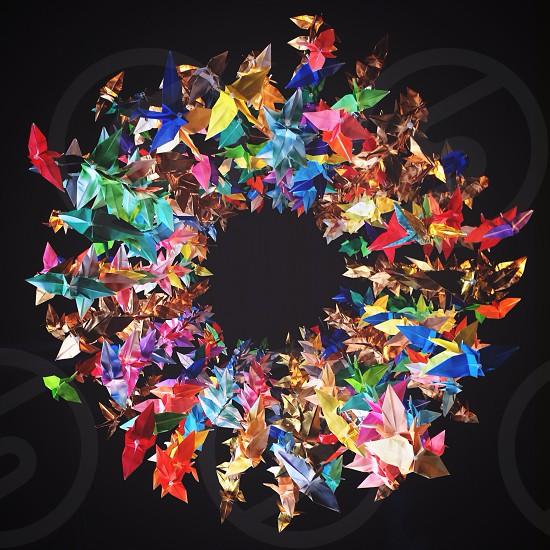 multi colored wreathe  photo