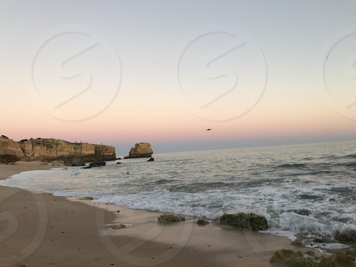 Drown sunset Portugal  photo