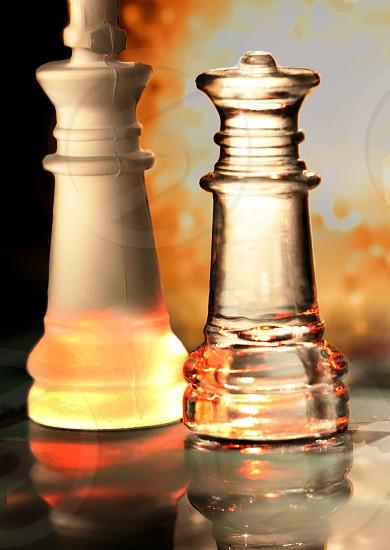 Heated Chess Match. photo