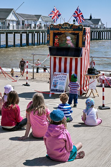 Punch and Judy show at Southwold photo