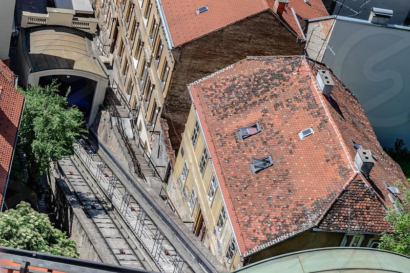 Cable Car Train Train Station & Railways - Zagreb Funicular Croatia photo