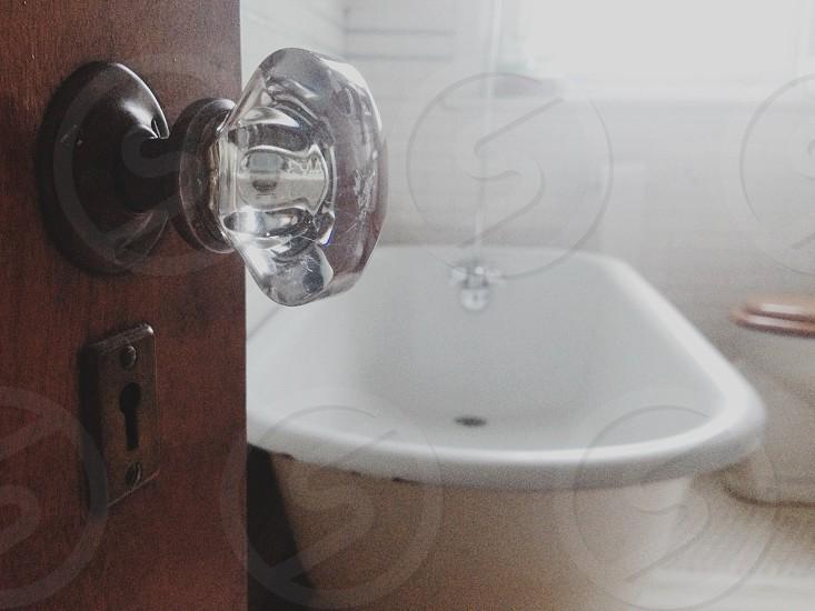 white bathtub  photo