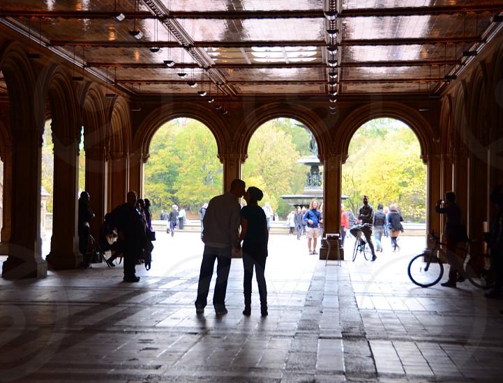 man & woman kissing photo