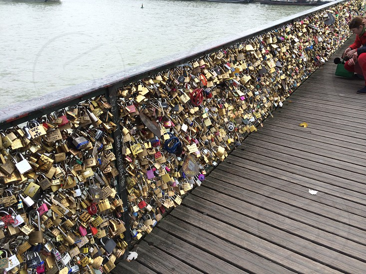 Love Locks on Pont de arts - Paris photo
