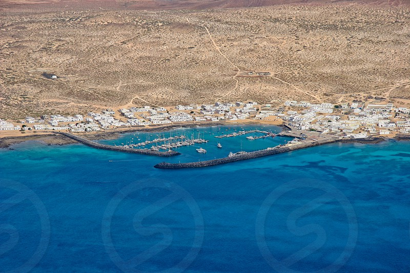 View of Isla Graciosa off the Coast of Lanzarote photo