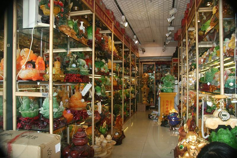 Jade shop in Guangdong China photo