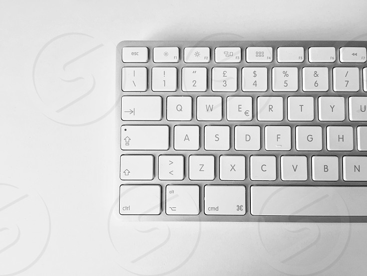 Aerial view of a computer keyboard photo