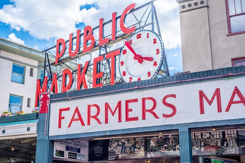 Pikes Place Market Seattle WA. photo