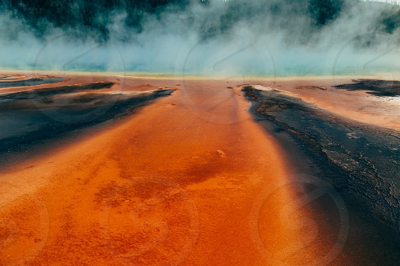 Grand Prismatic hot spring in Yellowstone National Park photo