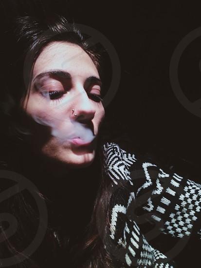 smoke hipster pool cigarette night light natural vscocam style fashion photo