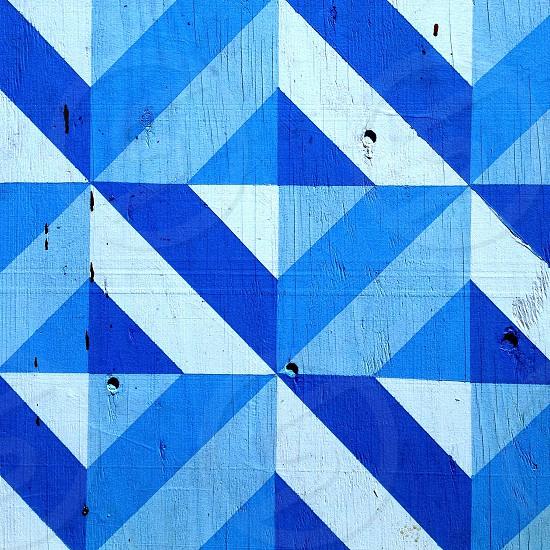 Geometric mural blue photo