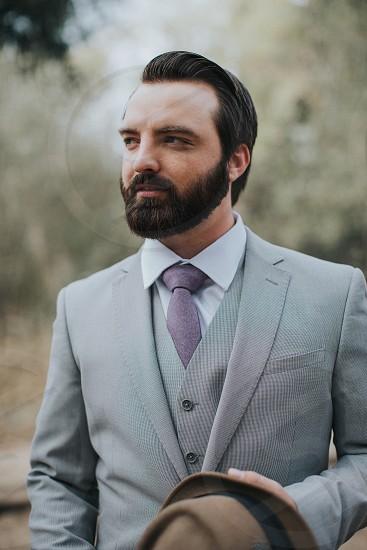 Wedding beard groom photo
