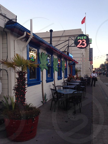 Pier 23 cafe on the embarcadero.  photo