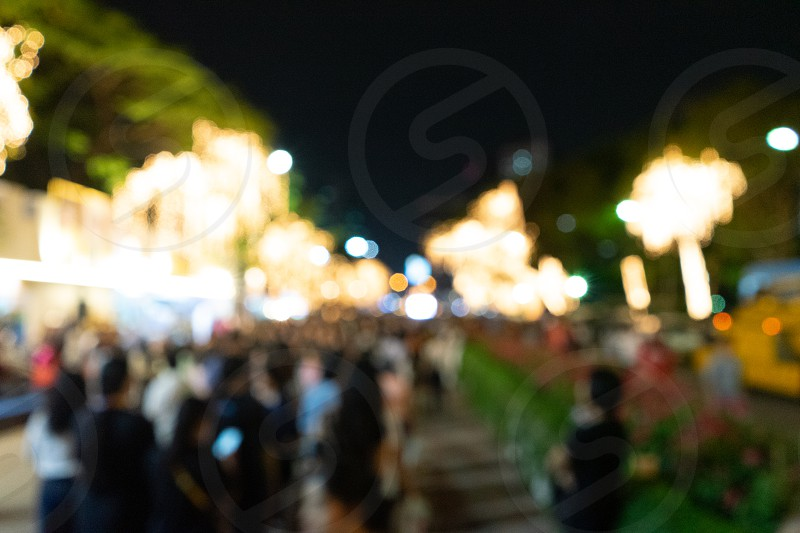 Bokeh light in the night background with space photo