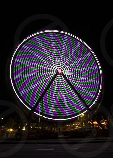 Ferris wheel long exposure  colors  fair Cape Cod summertime patterns  photo