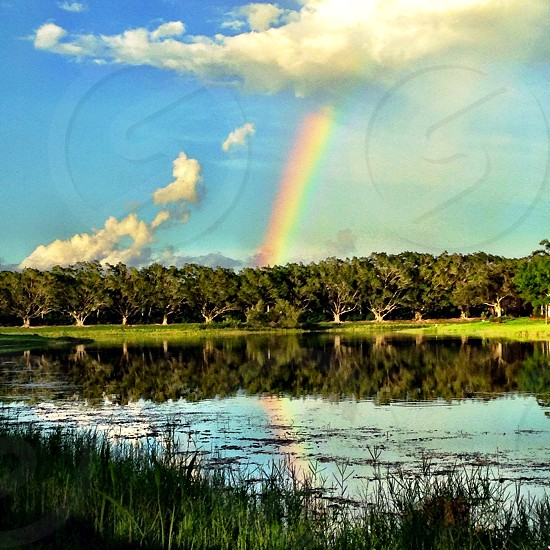 Reflection of a rainbow photo