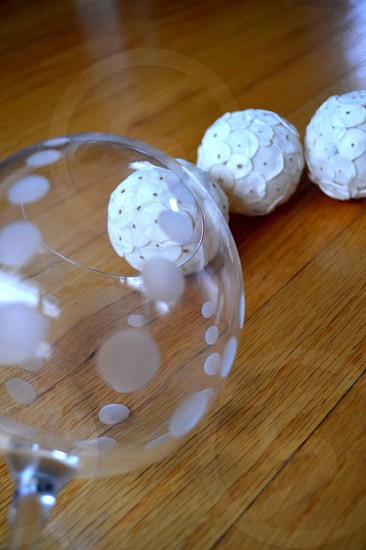 white sequin balls photo