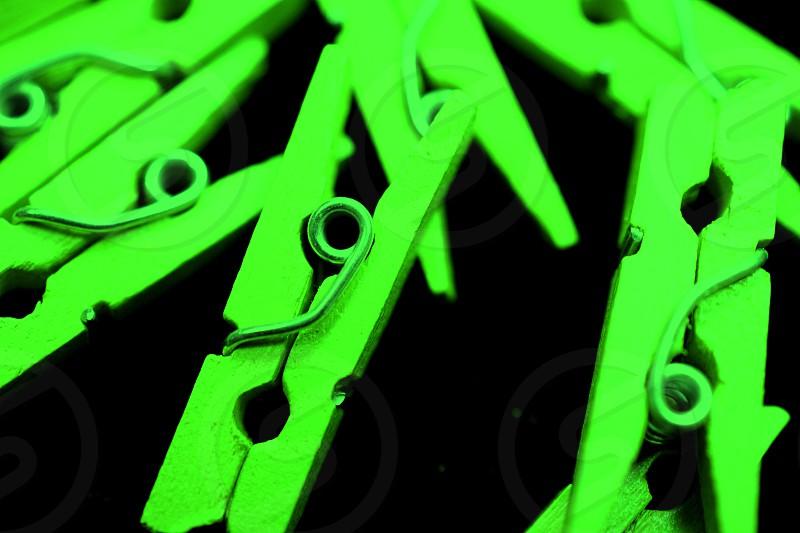 Green Clothespins       photo
