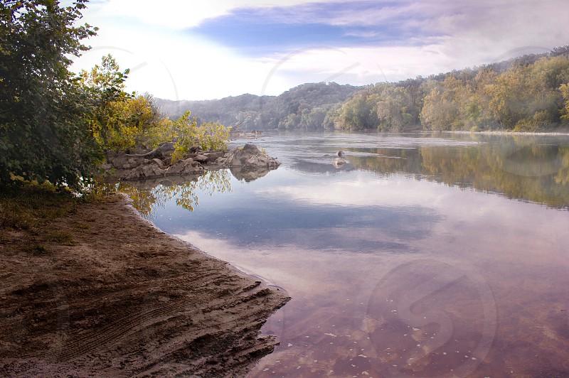 Potomac river pink mist zen beautiful peaceful water canon photo