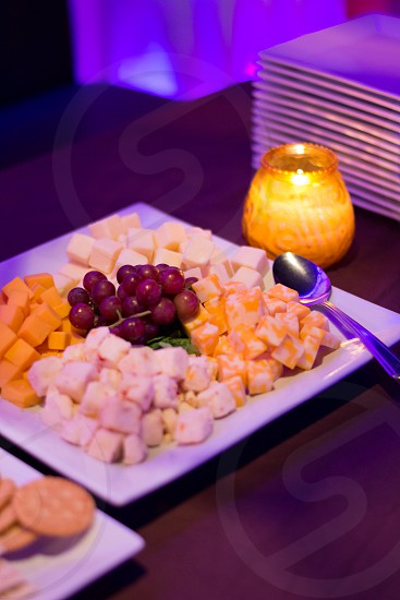 cheese platter hors deourves catering cheese tray refreshments light food and drinks cheese and crakers tray reception hors d'oeuvres photo