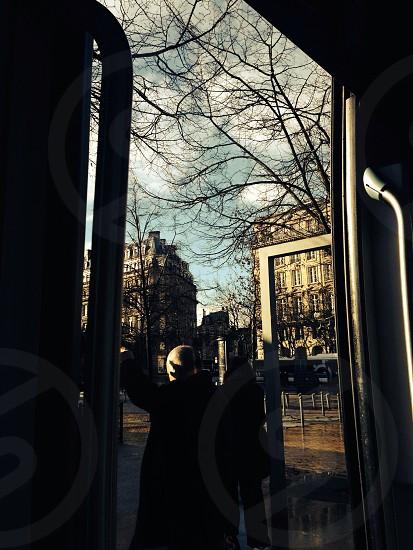 In the tram photo