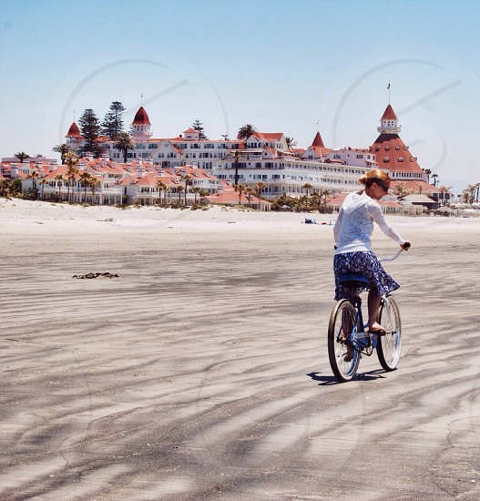 Beach biking at the Del Coronado photo