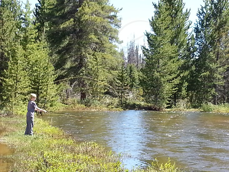 Fly fishing in Rocky Mountain National Park photo