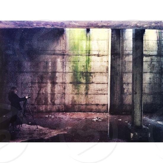 gray concrete wall photo