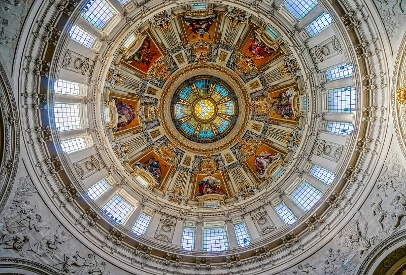 Ceiling Detail of the Cathedral in Berlin photo