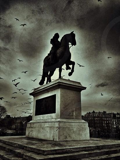 Statue in Paris photo